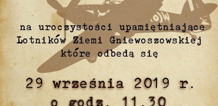 Uroczystości upamiętniające Lotników Ziemi Gniewoszowskiej